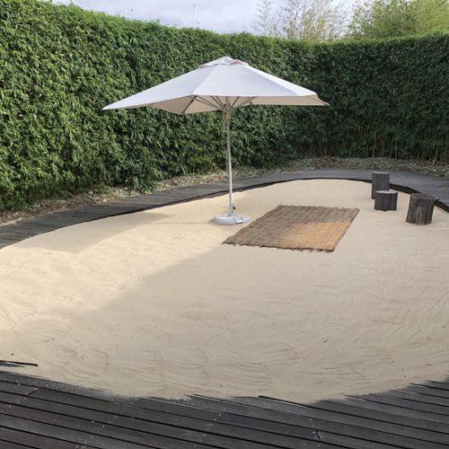 Sandburg Strandfeeling Garten Beratung FengShui